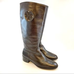 Tory Burch knee high riding leather boots size 8.5